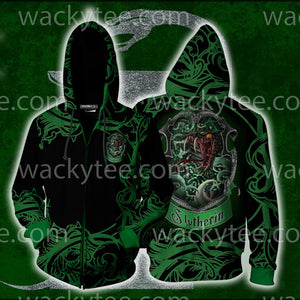 Cunning Like A Slytherin Harry Potter Zip Up Hoodie