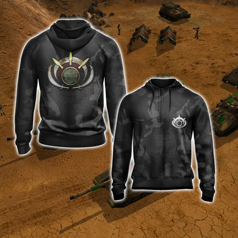 Image of Command & Conquer - Global Liberation Army Unisex Zip Up Hoodie