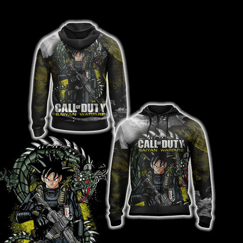 Call of Duty Game - Goku Unisex Zip Up Hoodie