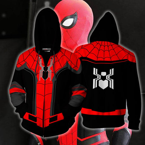 Image of Spider-Man: Far From Home Cosplay Zip Up Hoodie Jacket