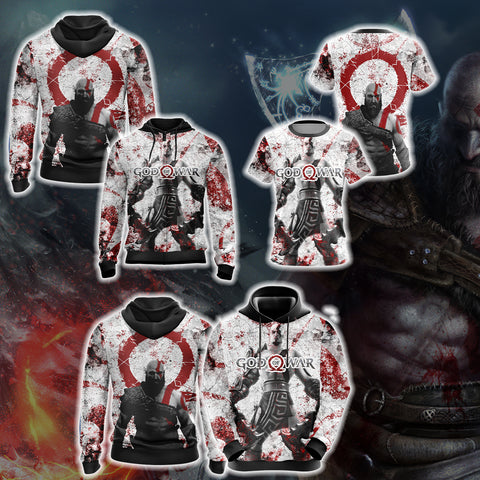 Image of God Of War New Collection Unisex Zip Up Hoodie