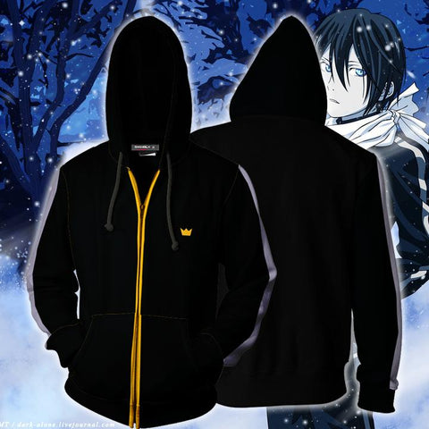 Image of Noragami Yato Cosplay Zip Up Hoodie Jacket