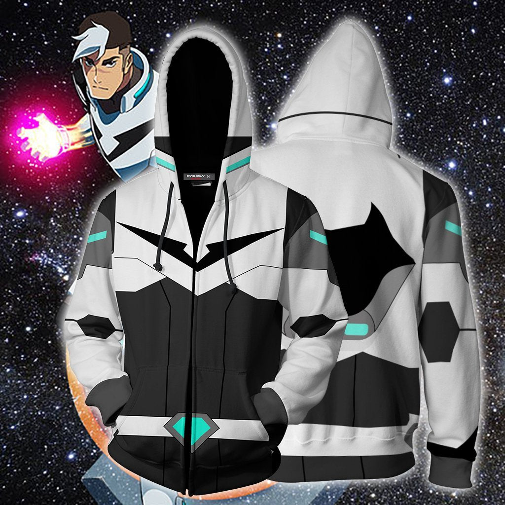 Shiro Voltron Legendary Defender Cosplay Zip Up Hoodie Jacket