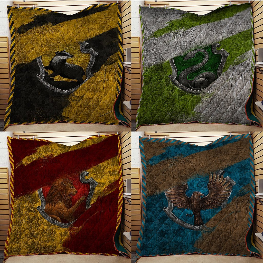 The Slytherin House Harry Potter 3D Quilt Blanket