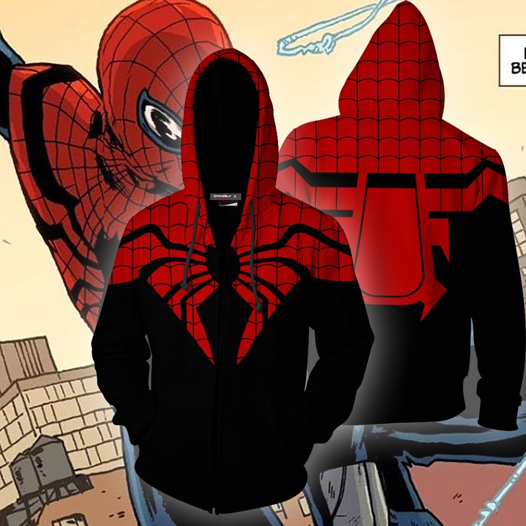 The Superior Spider-Man Cosplay Zip Up Hoodie Jacket
