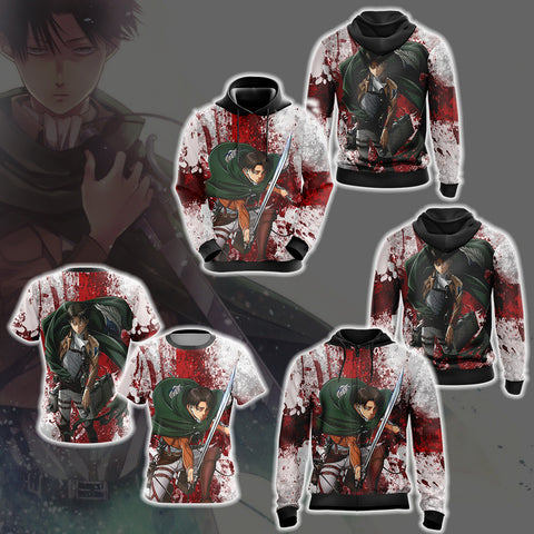 Image of Attack on Titan - Levi Unisex Zip Up Hoodie