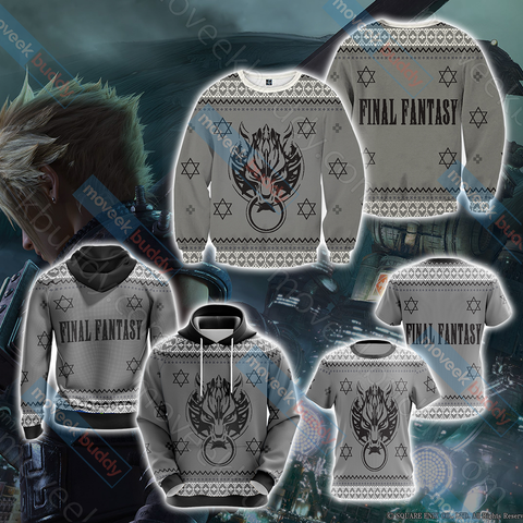Image of Final Fantasy VII - Cloud Christmas Style Unisex 3D T-shirt