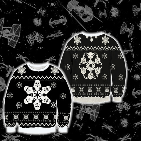 Star Wars Snow Flake Unisex 3D Sweater