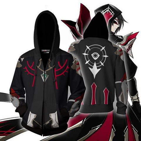 Image of Elsword Solace Cosplay Zip Up Hoodie Jacket