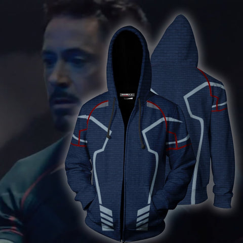 Image of Avengers: Age of Ultron Iron Man (Tony Stark) Cosplay Zip Up Hoodie Jacket