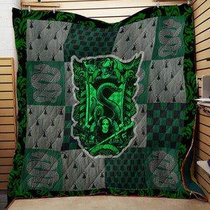 The Slytherin Snake Harry Potter 3D Quilt Blanket