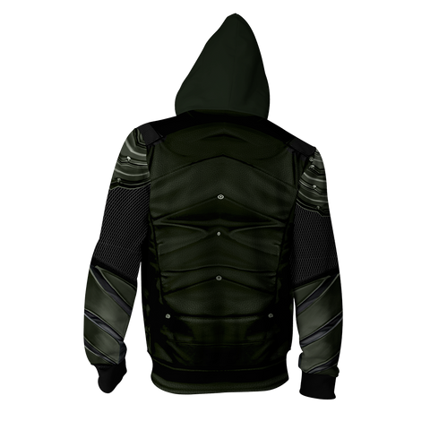 Image of Arrow Oliver Cosplay Zip Up Hoodie Jacket