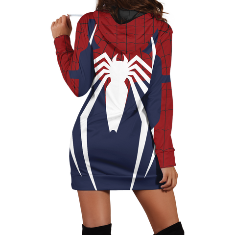 Image of Spider-Man Cosplay PS4 New Look 3D Hoodie Dress