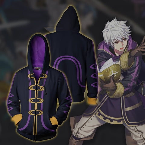 Image of Fire Emblem Robin Cosplay Zip Up Hoodie Jacket