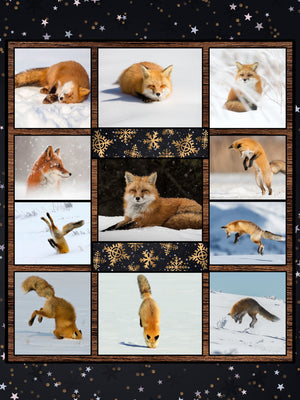 Fox In The Snow 3D Throw Blanket