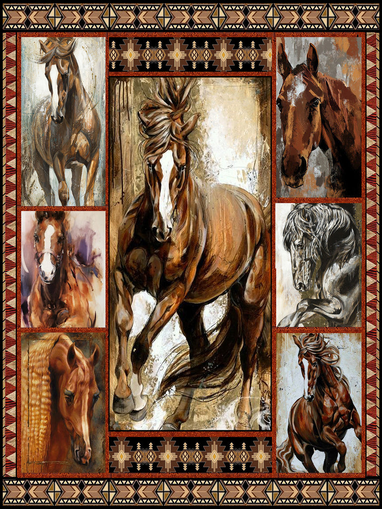 Horse Lovers 3D Quilt Bed Set