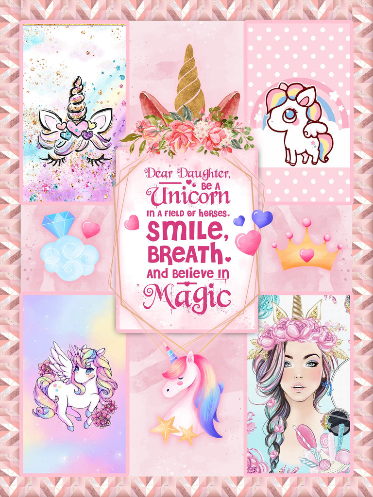 Dear Lisa, Be A Unicorn In A Field Of Horses. Smile, Breath And Believe In Magic 3D Throw Blanket