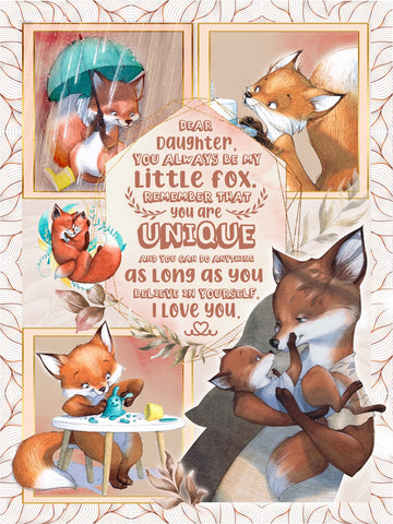 Gifts For Daughters, Granddaughters - Dear Lisa, You Always Be My Little Fox 3D Quilt Bed Set