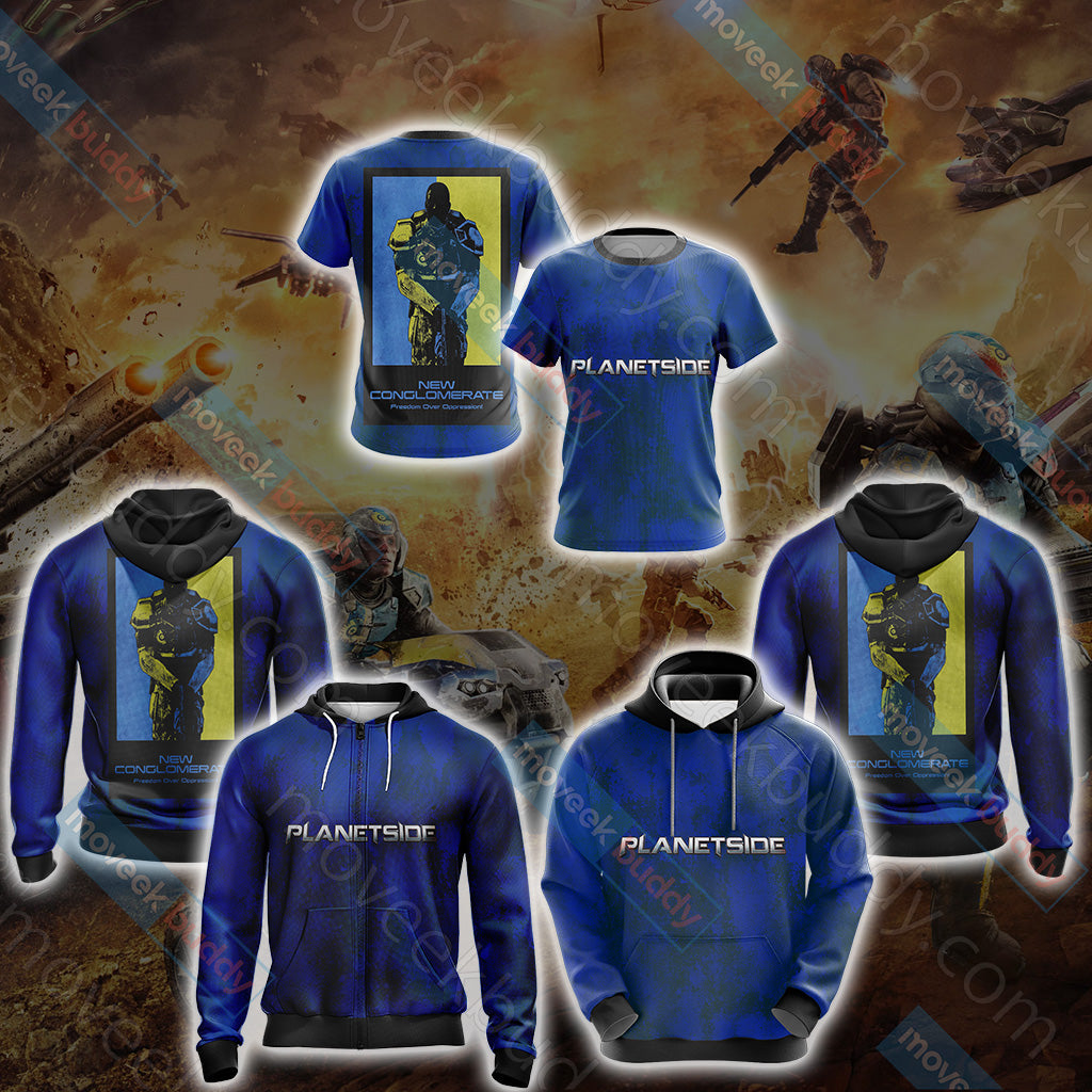 Planetside - New Conglomerate Unisex 3D Hoodie
