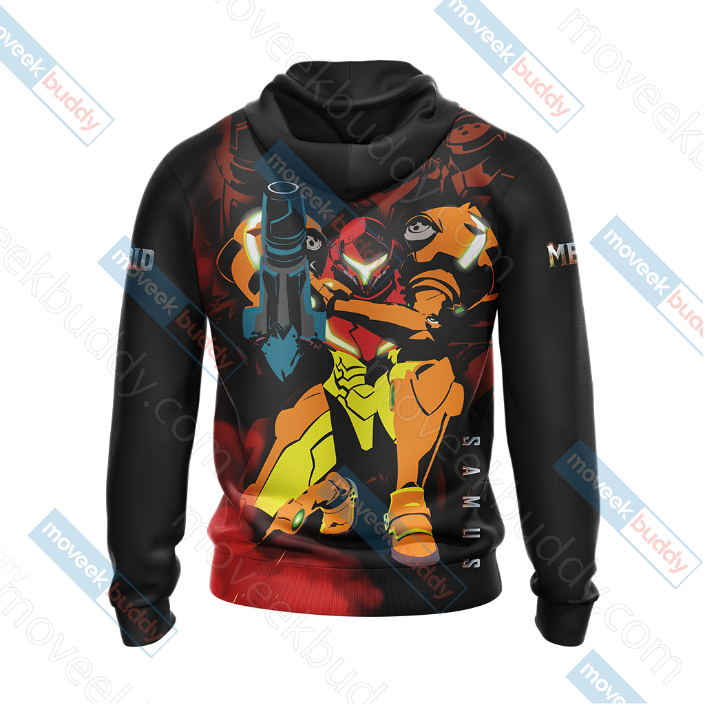 Metroid Samus New Look Unisex Zip Up Hoodie