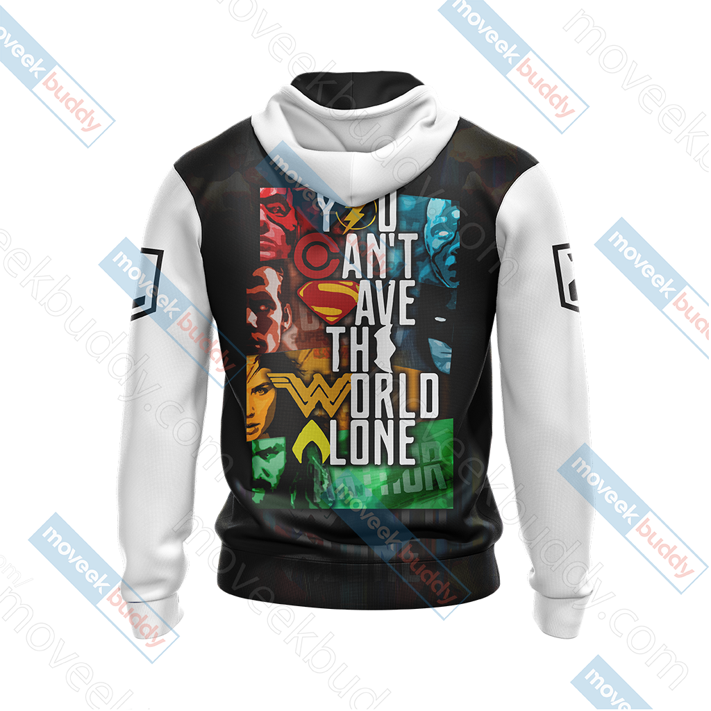 Justice League - You Can't Save The World AloneUnisex Zip Up Hoodie