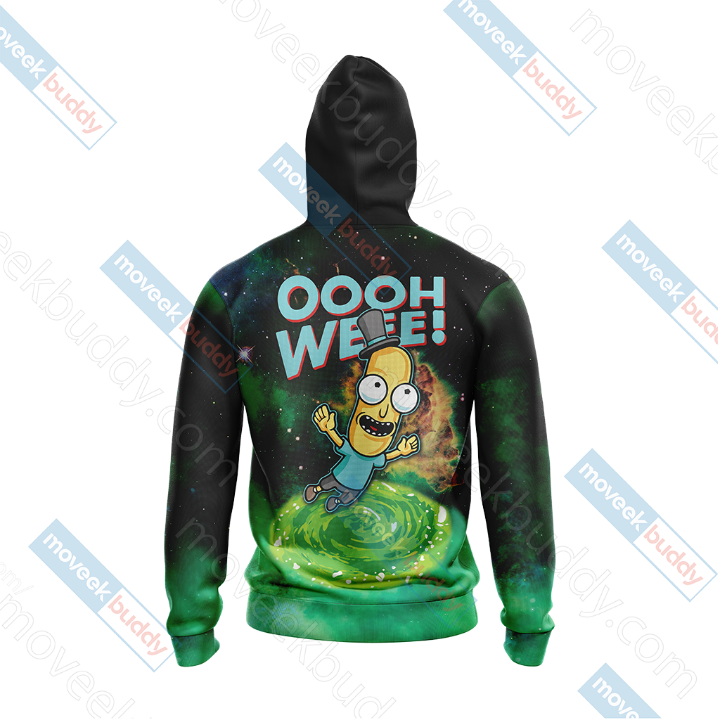 Mr.Poopybutthole Rick and Morty Unisex Zip Up Hoodie