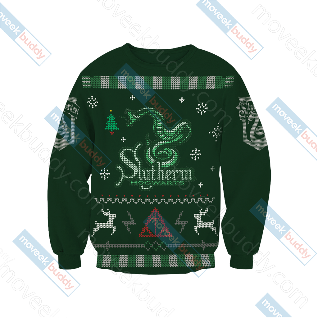 Harry Potter - Cunning Like A Slytherin Winter Style Unisex 3D Sweater