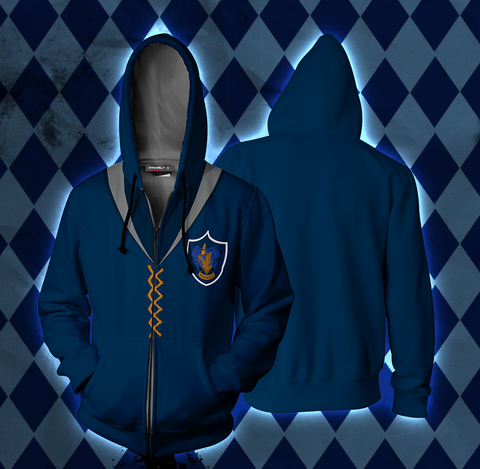 The Ravenclaw Quidditch Team Harry Potter Zip Up Hoodie