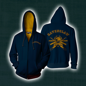 Quidditch Champion Ravenclaw Team Harry Potter Zip Up Hoodie
