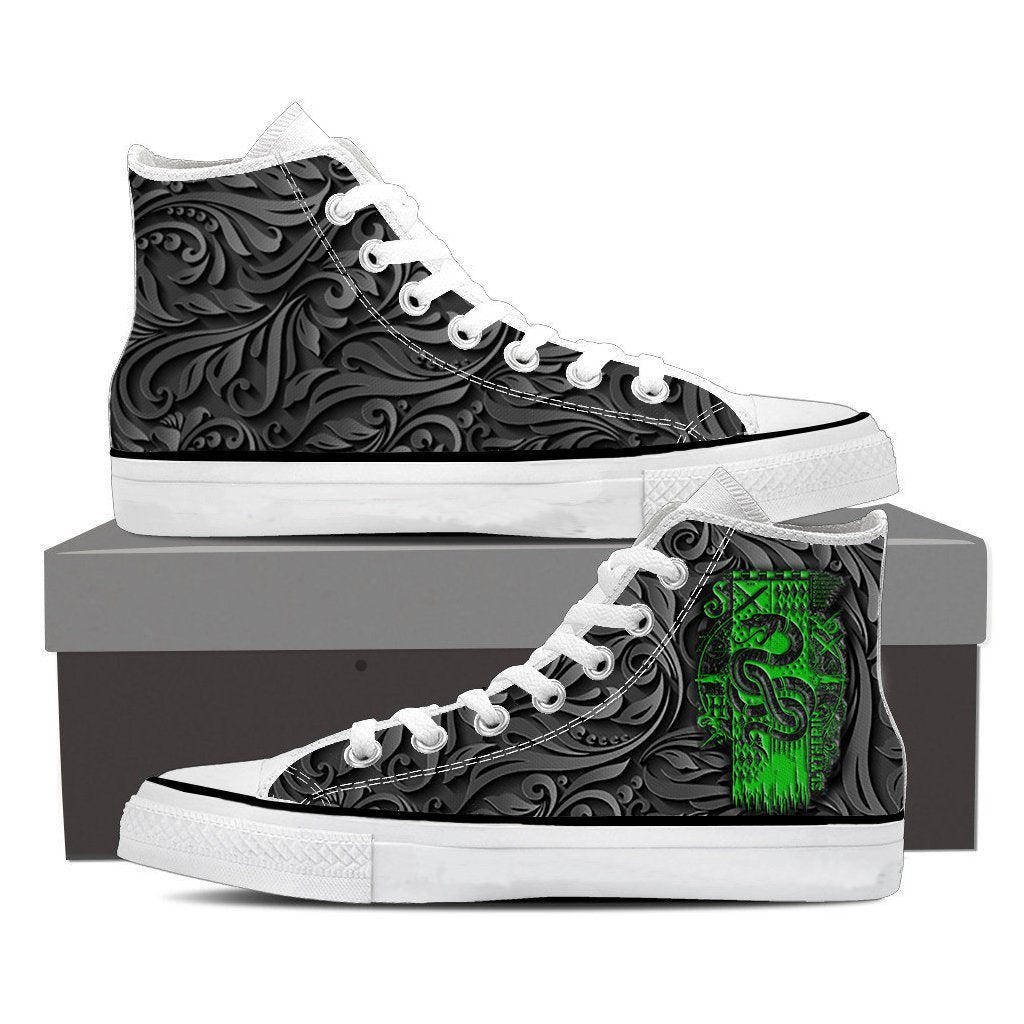 Slytherin Harry Potter High Top Shoes