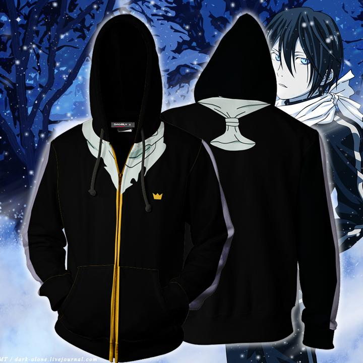 Noragami Yato Cosplay Zip Up Hoodie Jacket