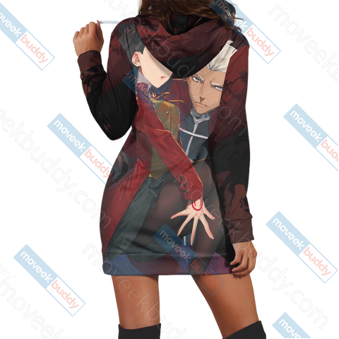 Image of Fate/ Stay Night - Blade And Fate Rin 3D Hoodie Dress