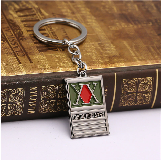 Hunter x Hunter Keychain Gon Freecss License Pendant Key Ring Holder