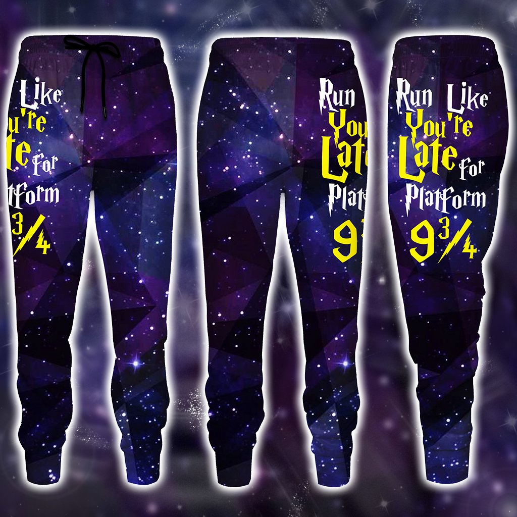 Run Like You're Late For Platform 9 3/4 Harry Potter Jogging Pants