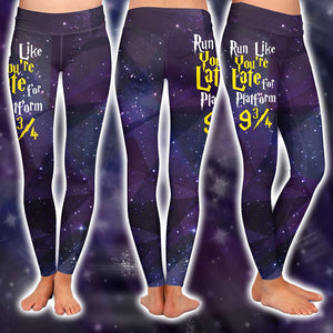 Run Like You're Late For Platform 9 3/4 Harry Potter 3D Leggings