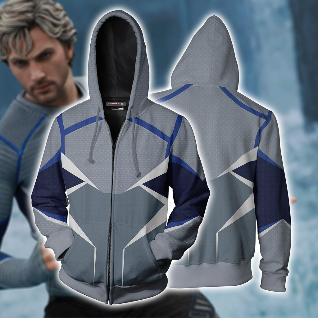 Quicksilver (Pietro Maximoff) Cosplay Zip Up Hoodie Jacket