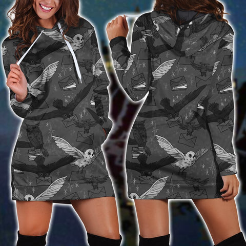 Hedwig Owl Seamless Harry Potter 3D Hoodie Dress
