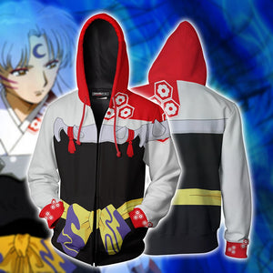 Inuyasha Sesshomaru Cosplay Zip Up Hoodie Jacket