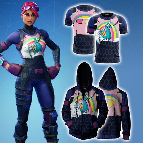 Image of Fortnite Brite Bomber Skin Unisex 3D T-shirt