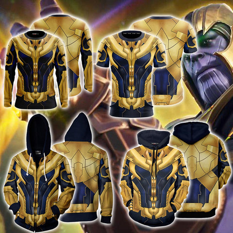 Image of Thanos Cosplay 3D Hoodie