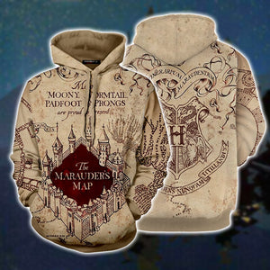 The Marauder's Map Harry Potter 3D Hoodie