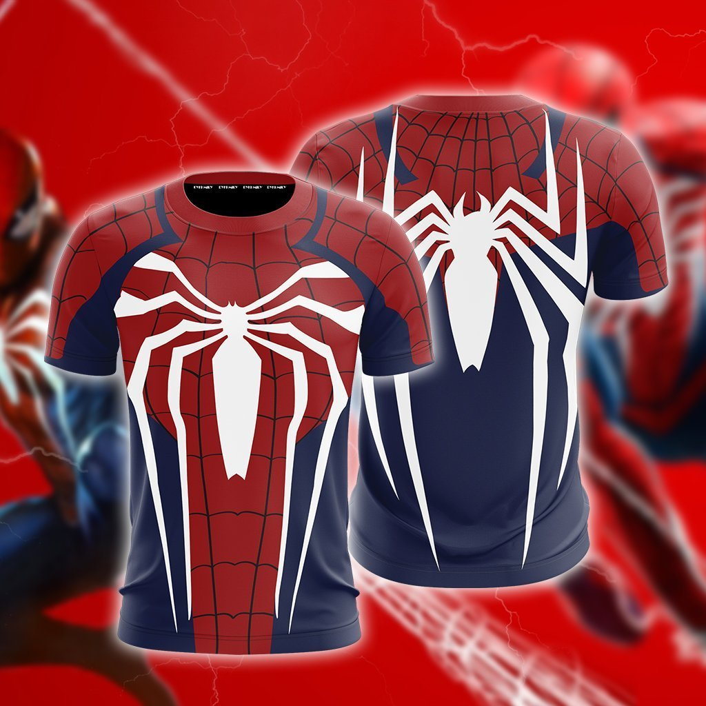 Spider-Man Cosplay PS4 New Look Unisex 3D T-shirt
