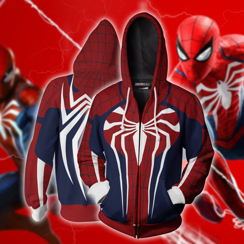 Image of Spider-Man Suit Zip Up Hoodie