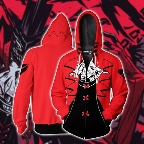 Persona 5 Soul Of Rebellion Cosplay Zip Up Hoodie Jacket