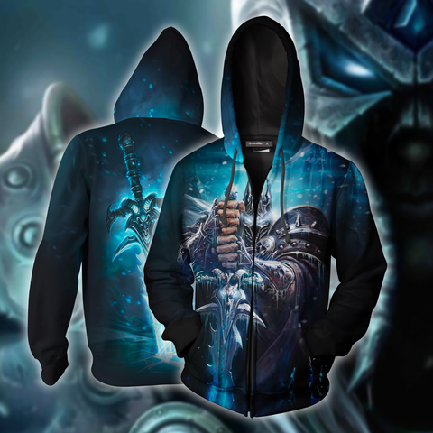 Lich King World Of Warcraft Zip Up Hoodie Jacket