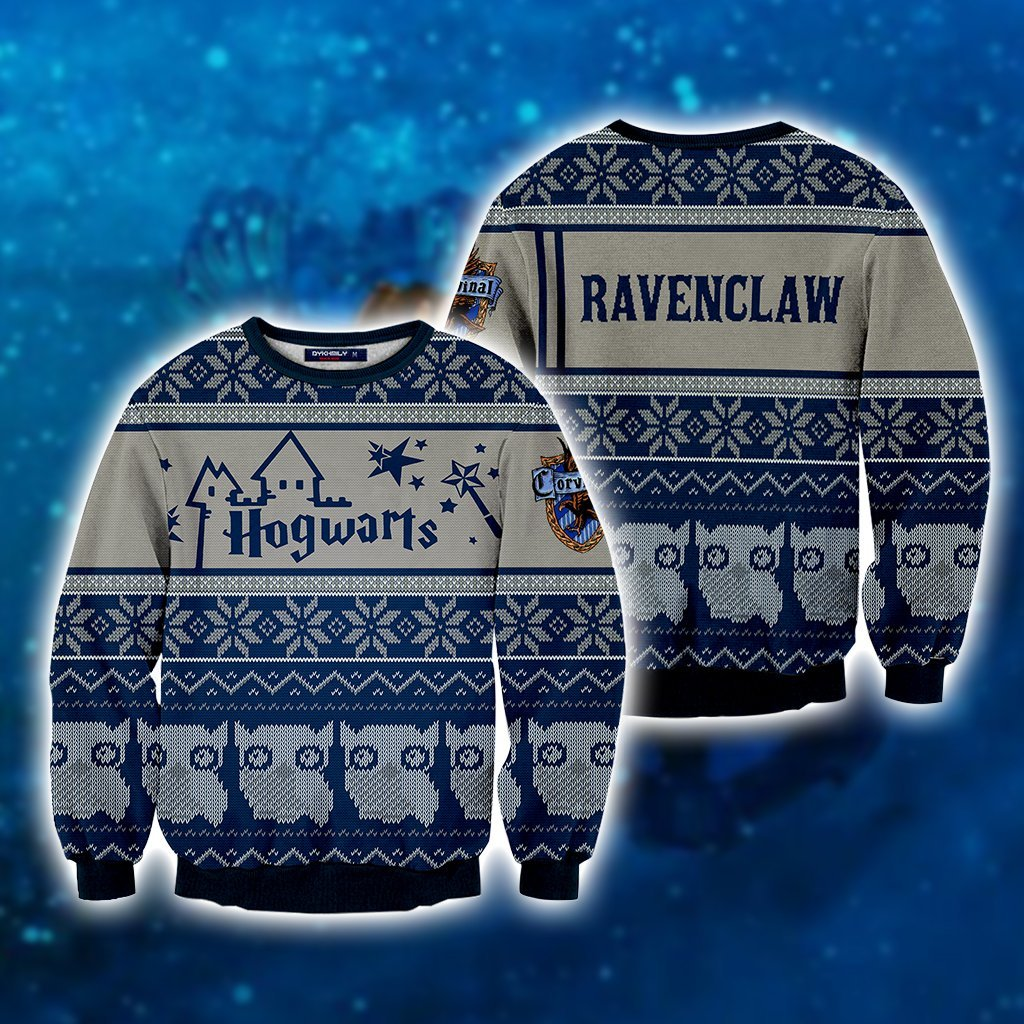 b6d258a4b Ravenclaw Harry Potter Ugly Christmas 3D Sweater – MoveekBuddyShop