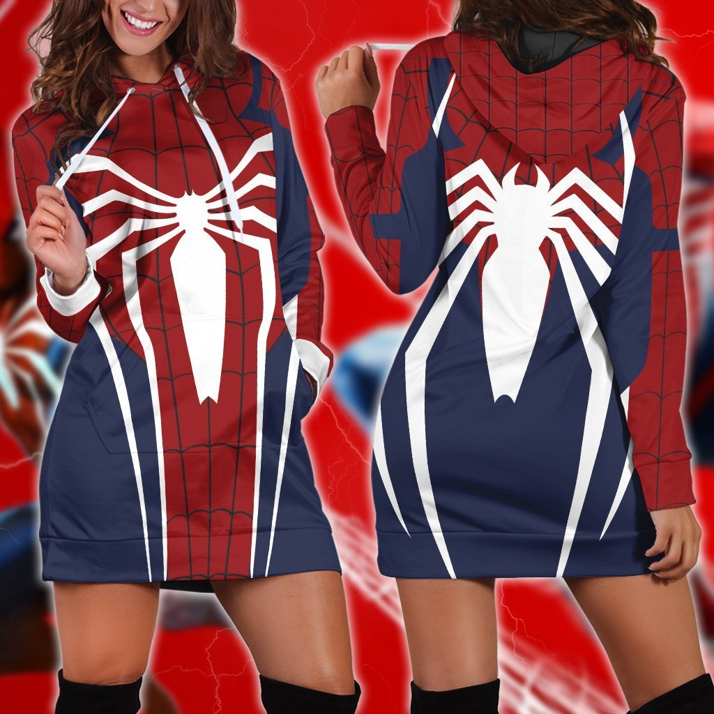 Spider-Man Cosplay PS4 New Look 3D Hoodie Dress