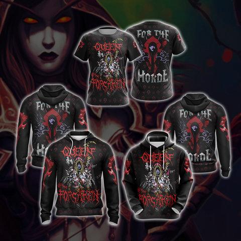 World Of Warcraft - Queen of the Forsaken Unisex 3D Hoodie