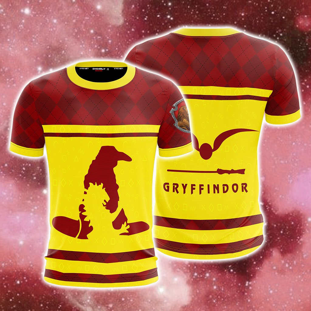 Gryffindor Quidditch Team Harry Potter New Collection Unisex 3D T-shirt