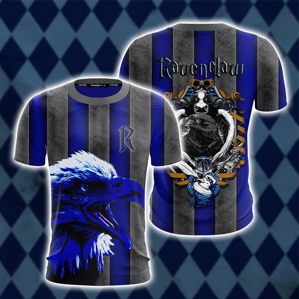Striped Ravenclaw Harry Potter Unisex 3D T-shirt